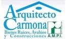 Arq. Carmona Bienes Raíces, Avalúos  y Construcciones.