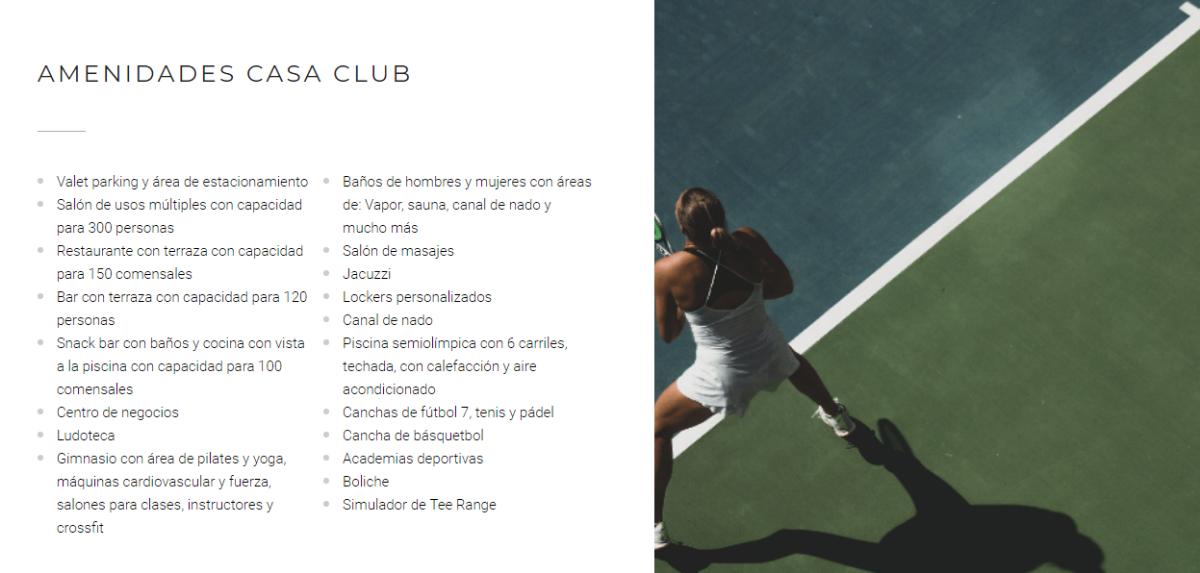 8 de 14: AMENIDADES CASA CLUB