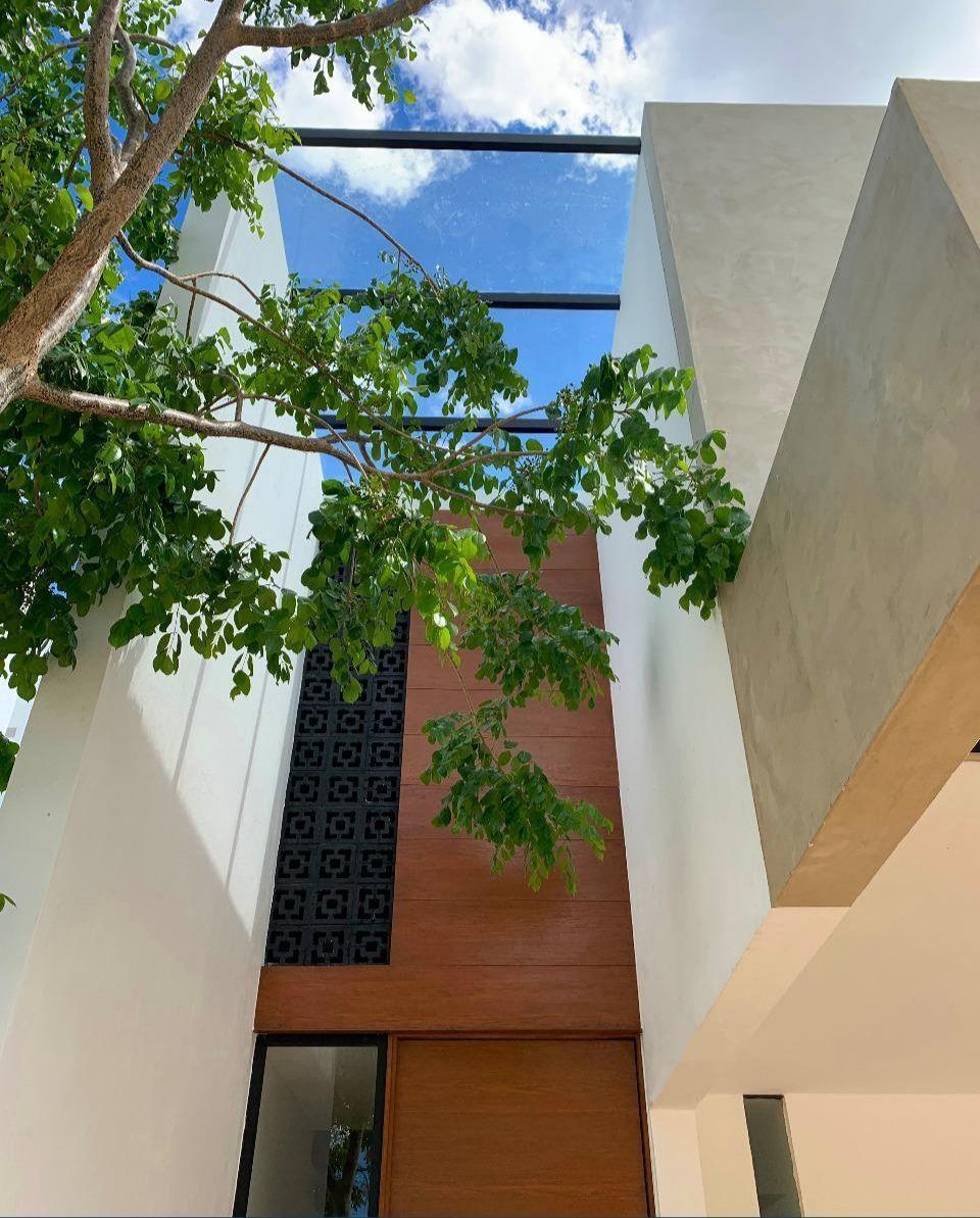 2 de 43: Acabados de madera en fachada, techo panorámico
