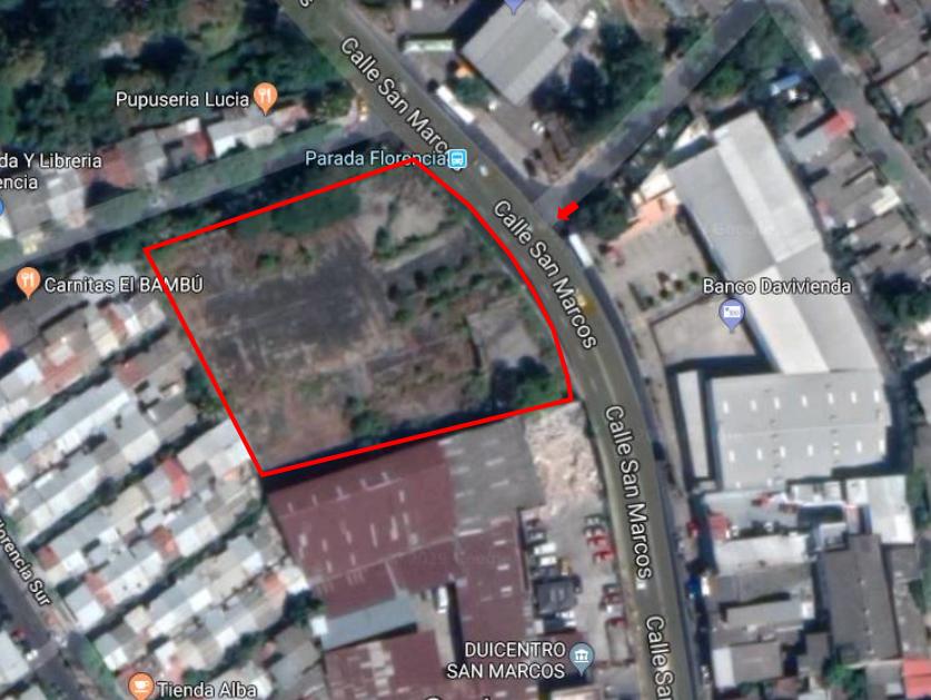 14 de 14: Ubicacion Satelital Terreno en venta en San Marcos