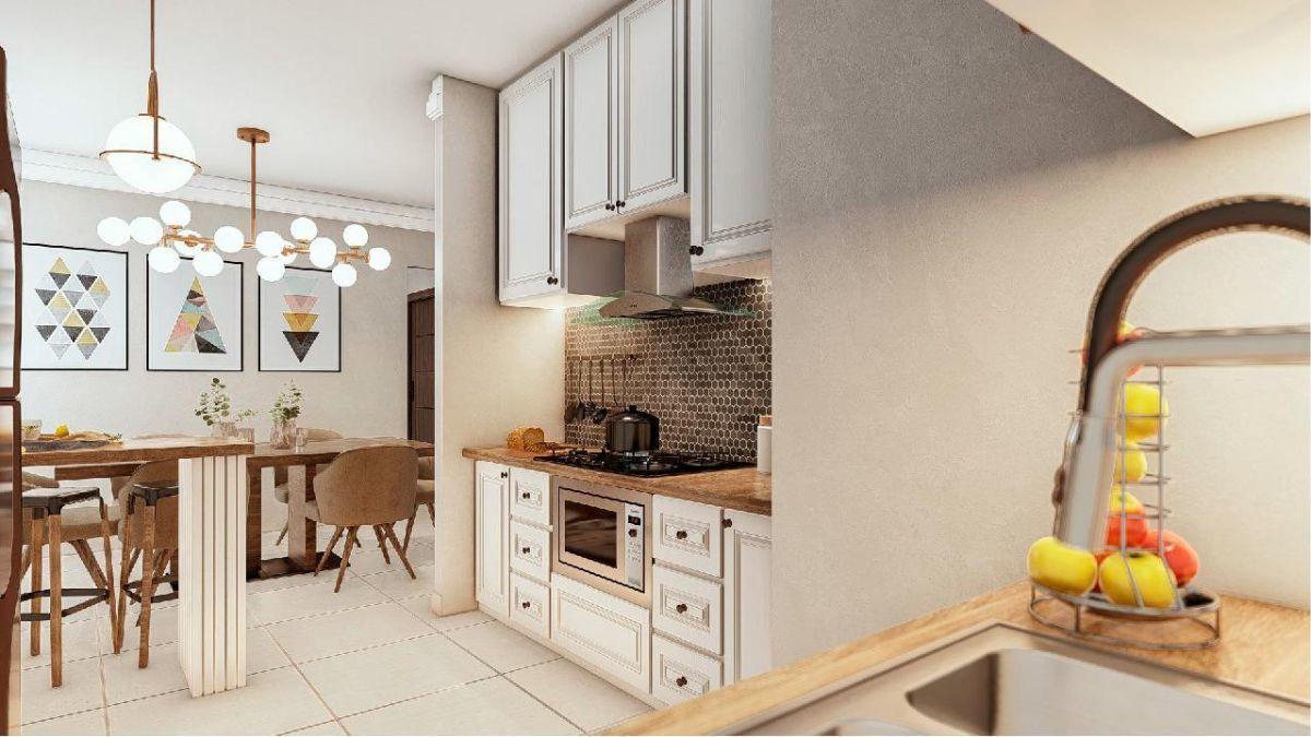 3 de 30: Imagen prospectiva de la cocina - Res. Praderas del Mirador