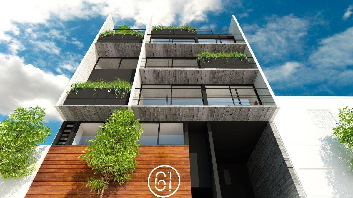 4 de 10: Vista inferior de la fachada del desarrollo.