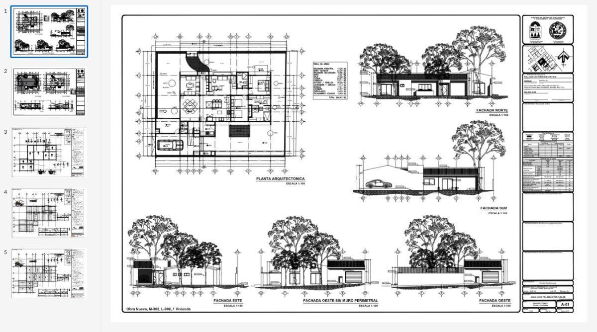 6 of 24: planos arquitectonicos
