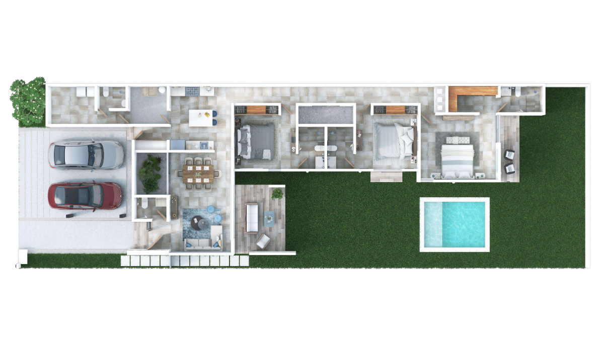 13 de 17: Casa en venta  una planta Privada Alba  Conkal