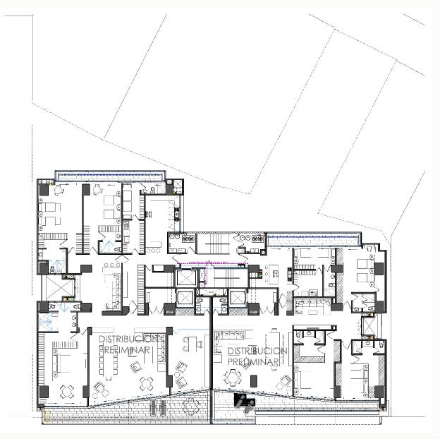 3 de 15: Propuesta arquitectónica de la planta.