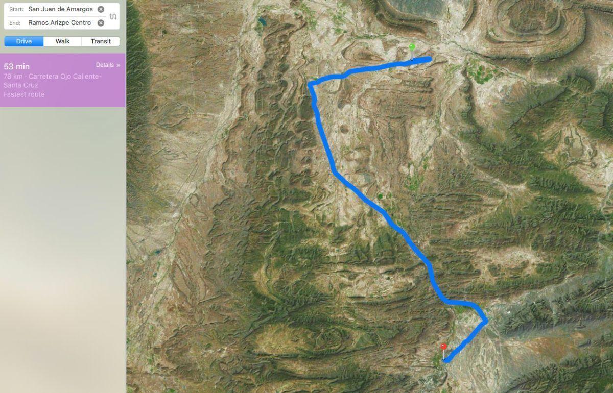 3 of 5: Camino desde ramos Arizpe