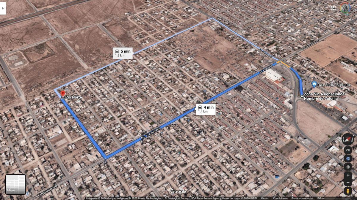 4 de 5: Ruta desde Centro Comercial Sta Barbara al terreno