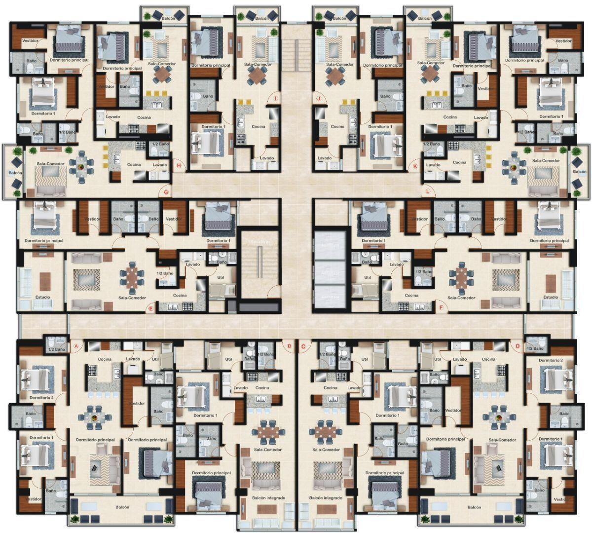 15 de 15: Distribución de los apartamentos en Villa Palmera XXII