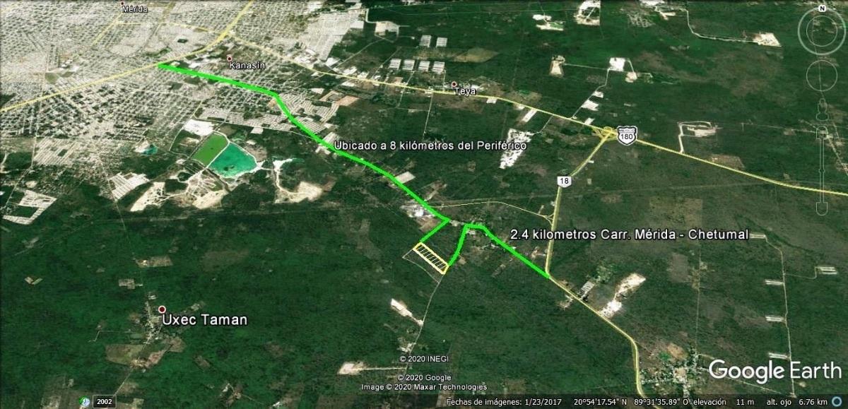 4 de 10: 2.4 kilómetros de la carretera Mérida - Chetumal