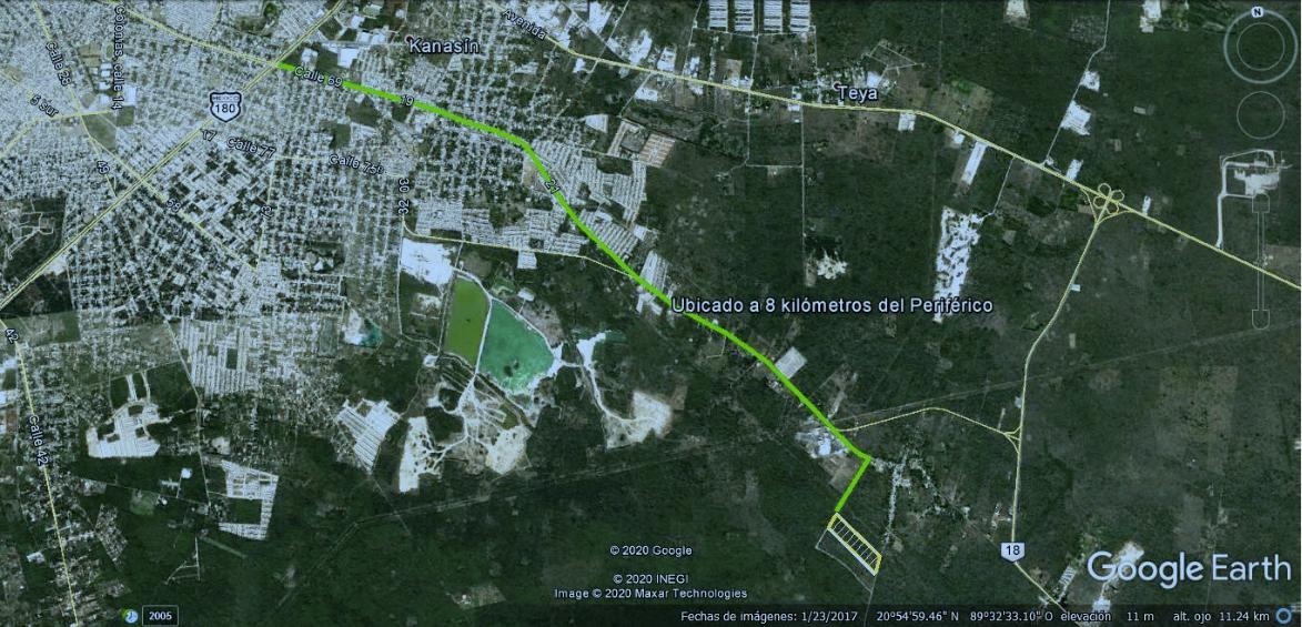 10 de 10:  Ubicado a 8 kilómetros del periférico la ciudad de Mérida