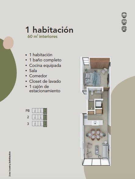 9 de 9: Departamento en Preventa Zona Country Mérida