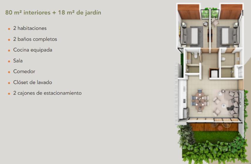 8 de 8: Departamento en Zona Country Mérida