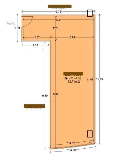2 de 11: Oficina (56.75m2)