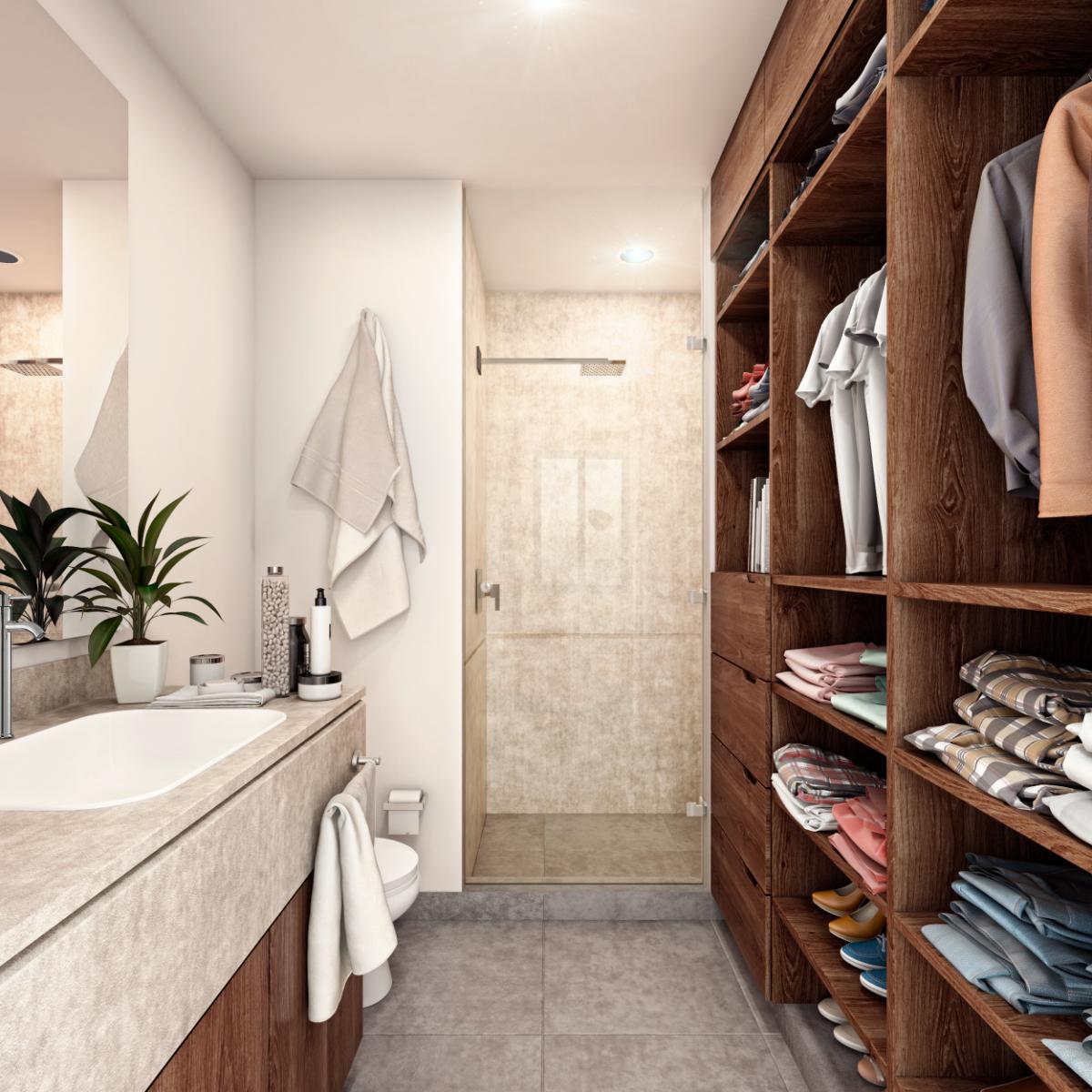 7 de 12: Baño y Closet vestidor