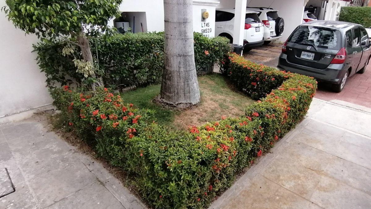 2 de 24: Jardinera frontal con enorme y preciosa palmera