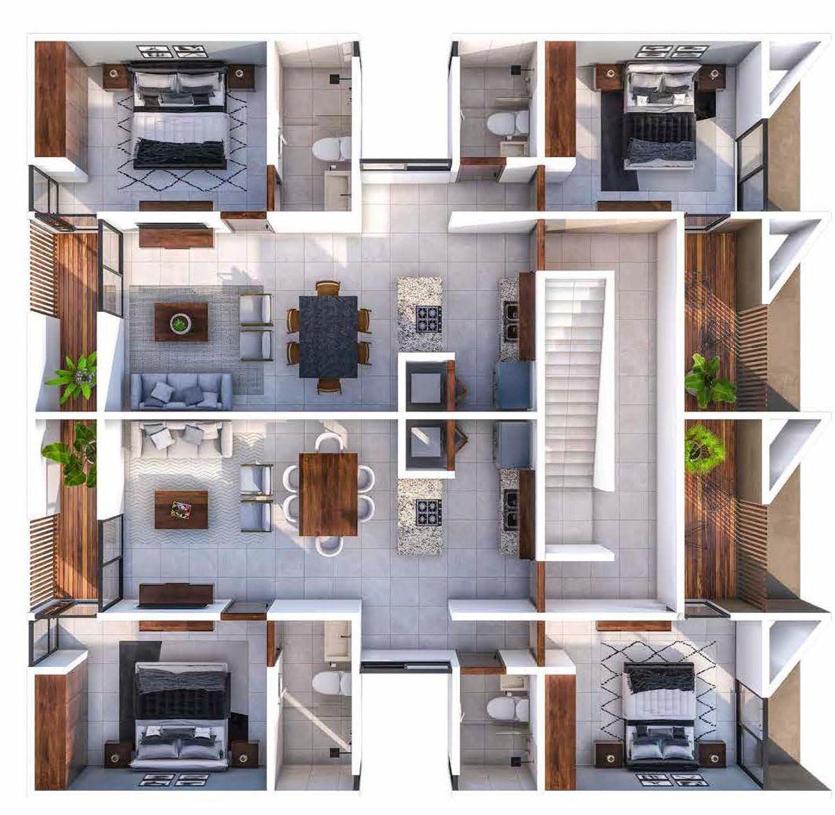 5 de 10: Departamentos  2 y 3 piso