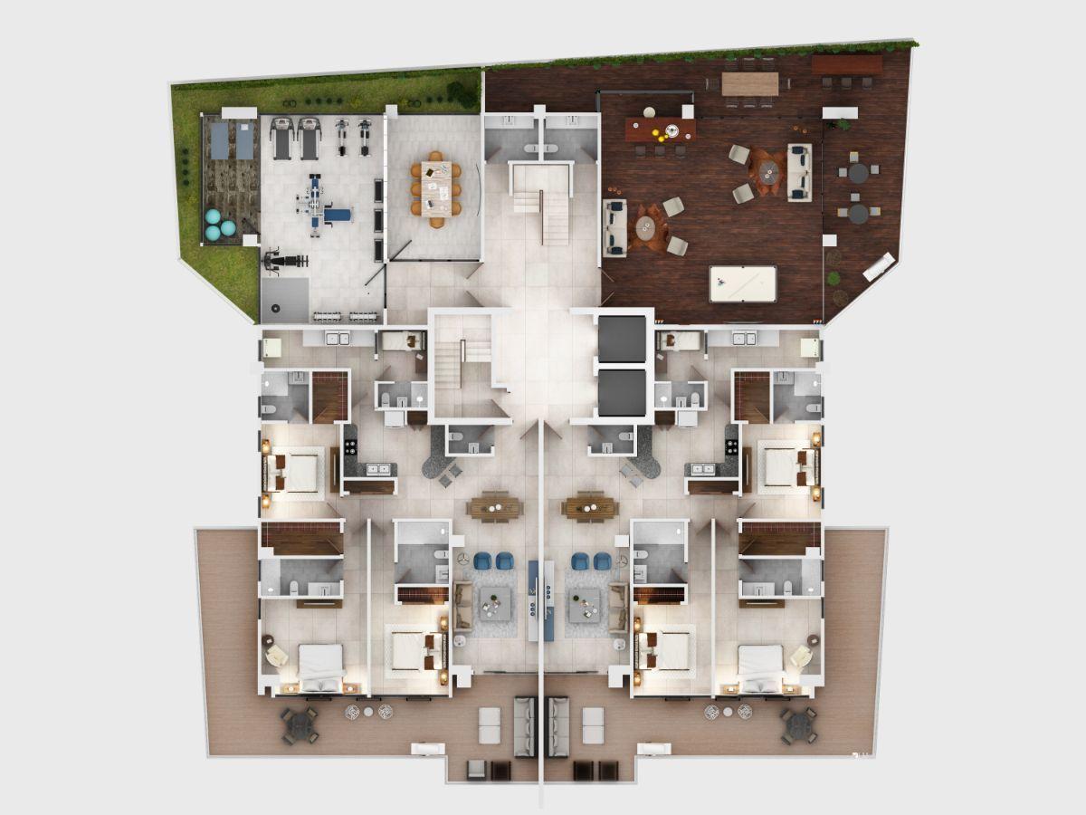 11 de 11: Plano arq 2do nivel con terraza