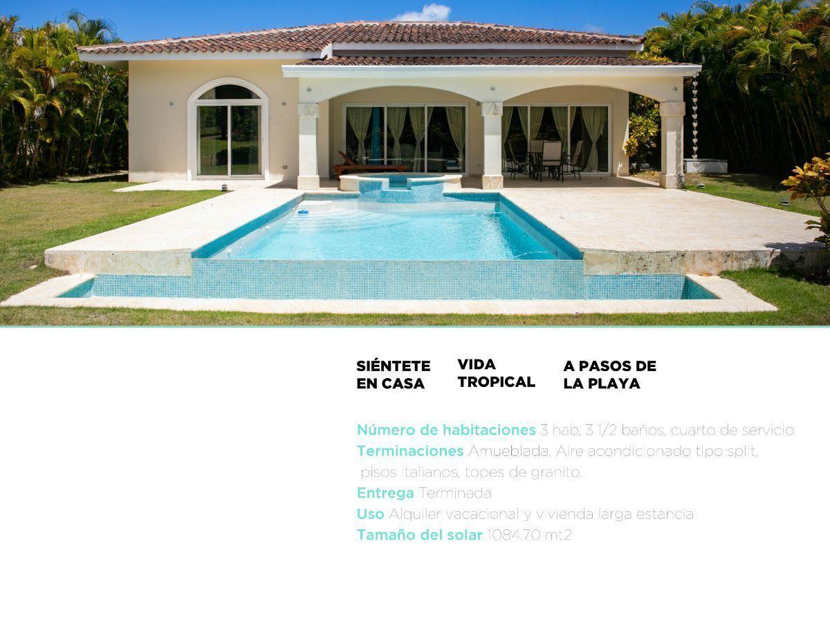 3 de 46: villa en punta cana alquiler vacacional 3 dormitorios piscin