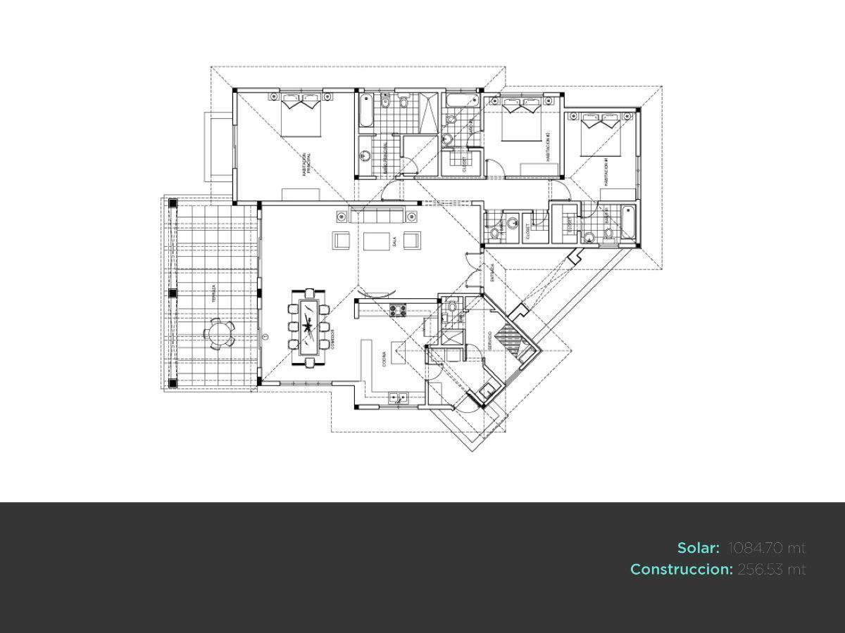 4 de 46: villa en punta cana alquiler vacacional 3 dormitorios piscin