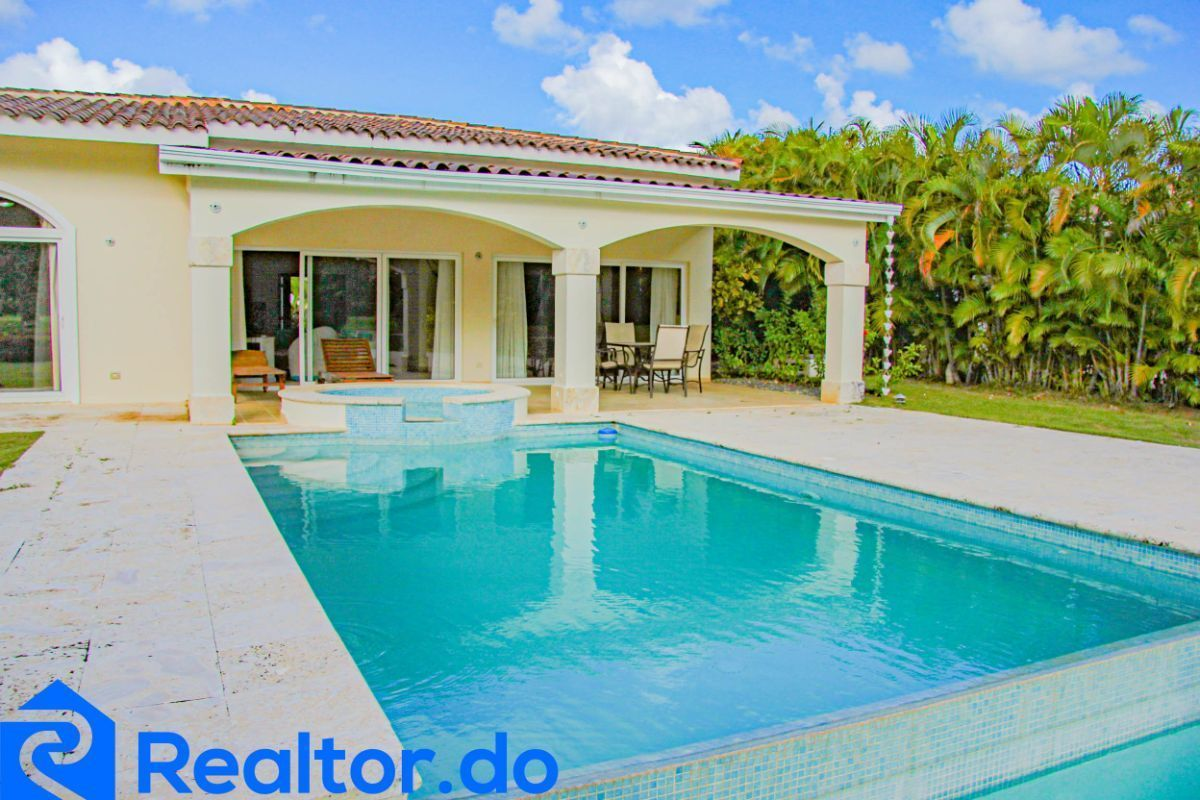 6 de 46: villa en punta cana alquiler vacacional 3 dormitorios piscin