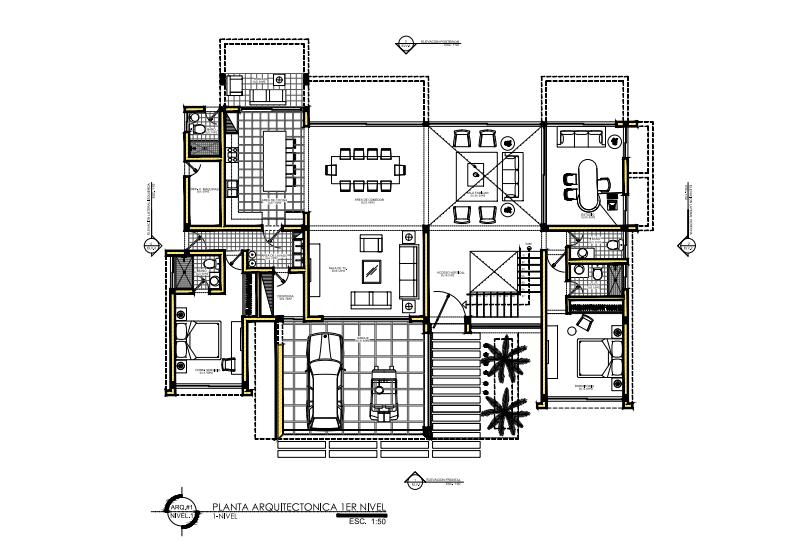 2 de 6: Plano Arquitectónico 1er nivel