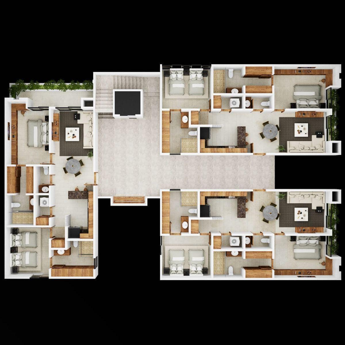 9 de 10: Vista conjunto piso 1