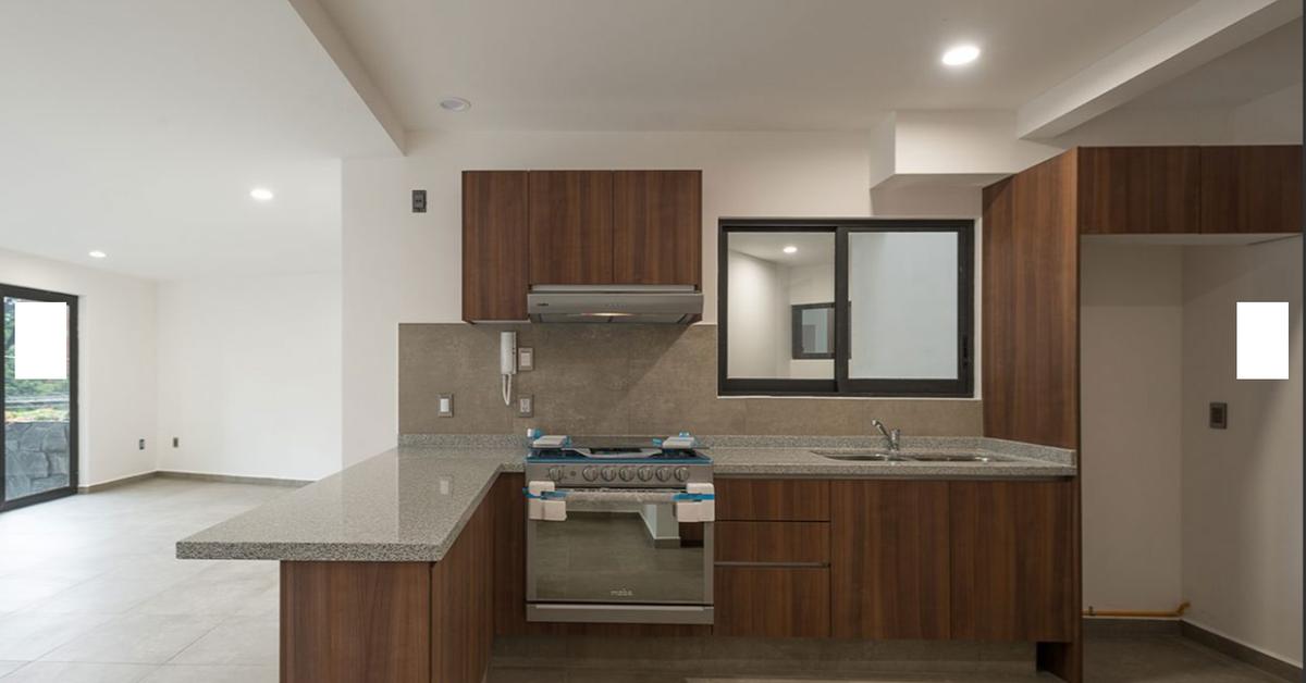 5 de 8: vista cocina y area de lavado