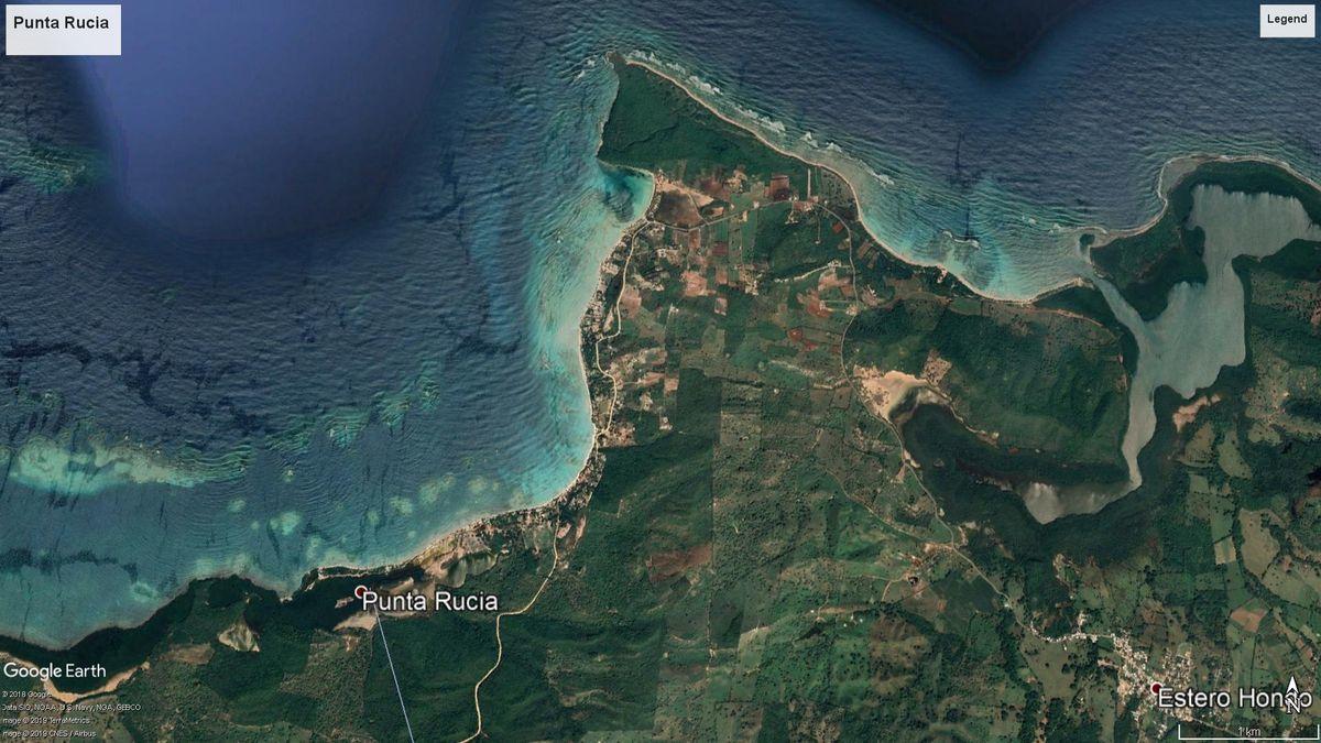 7 de 8: Foto satelital de Punta Rucia.