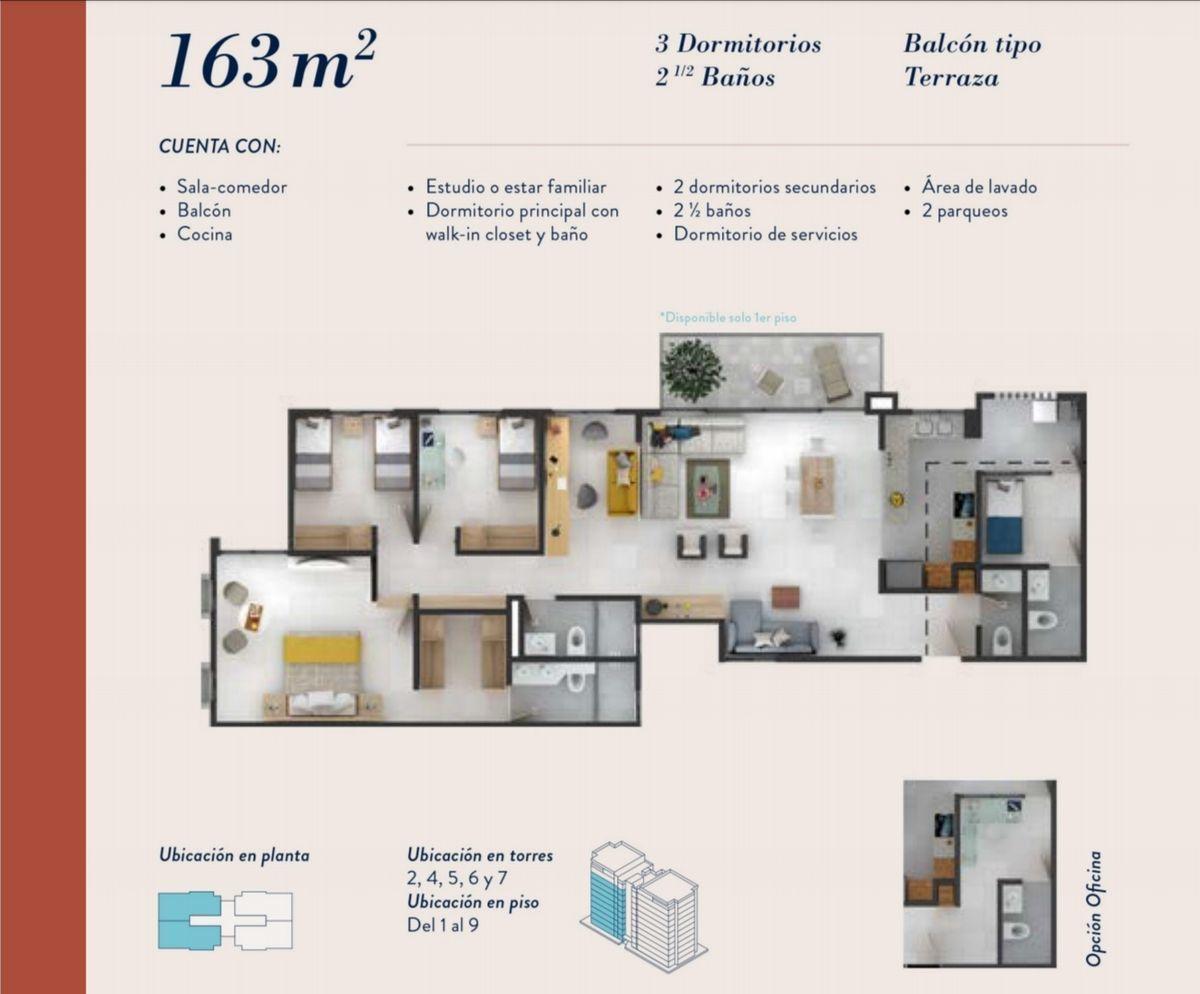 17 de 22: Distribución 163 m2.