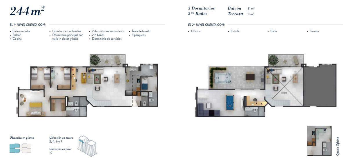 22 de 22: Distribución 244 m2.