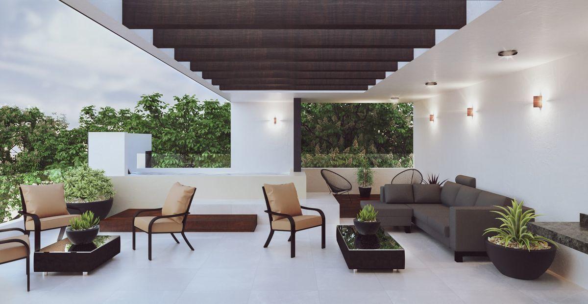 9 de 12: Área común, roof top, mi piscina, terraza, balcón, baño.