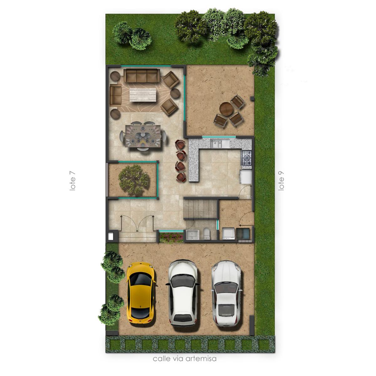 4 de 7: Cuenta con amplios espacios en planta baja