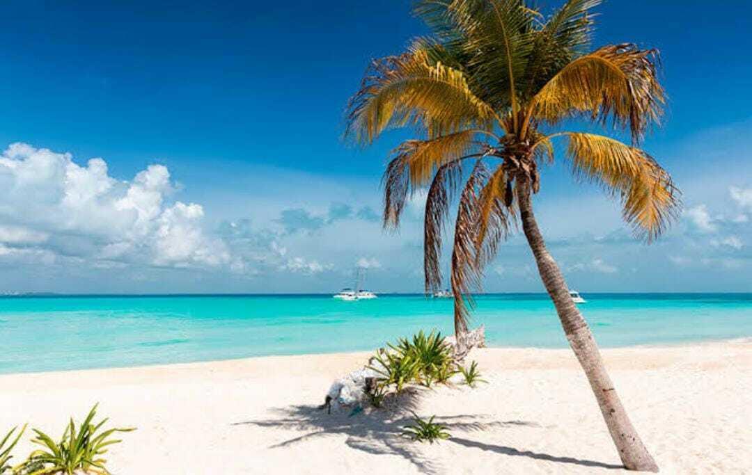 1 de 10: Vista al mar Caribe