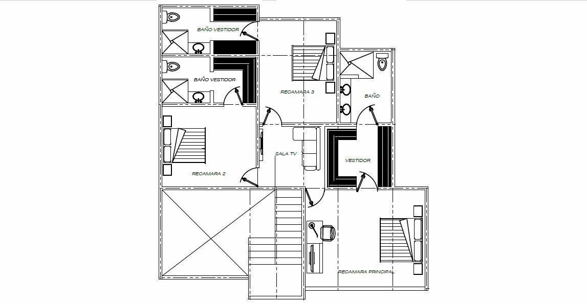 7 de 18: Plano Arquitectónico Planta Alta