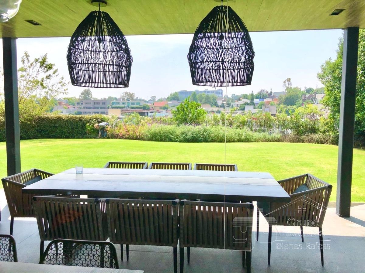 40 de 45: Terraza con jardín grande venta casa bosques de las lomas