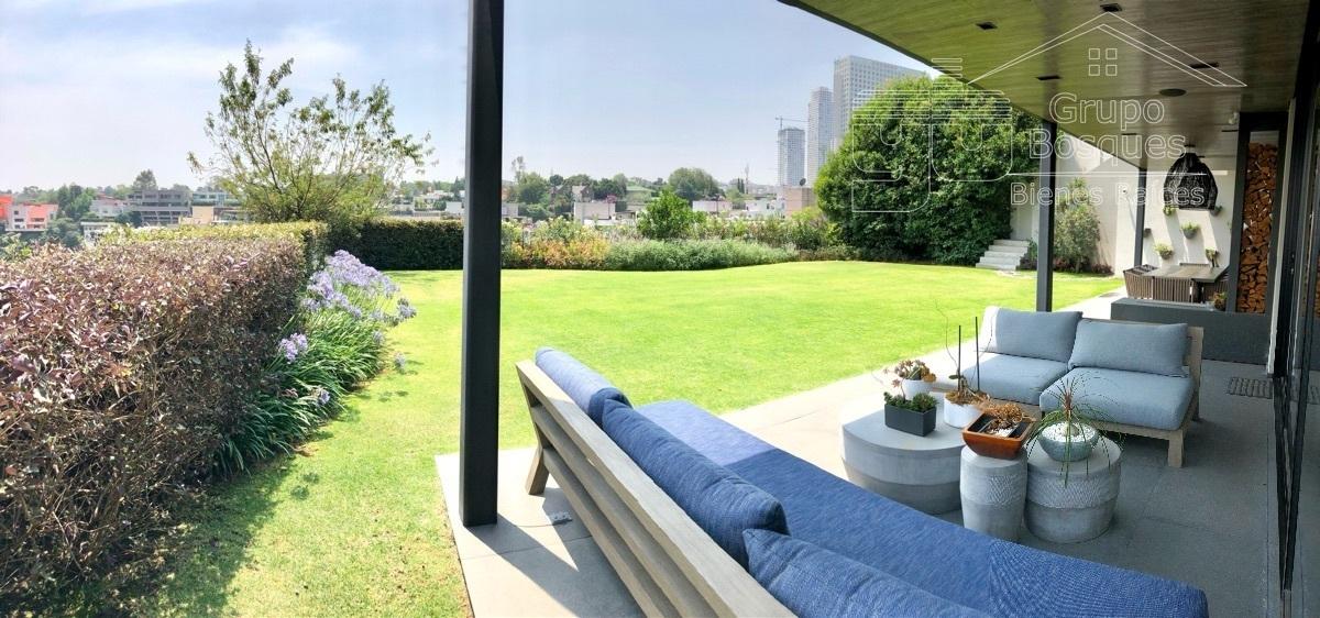 41 de 45: Terraza con jardín grande venta casa bosques de las lomas