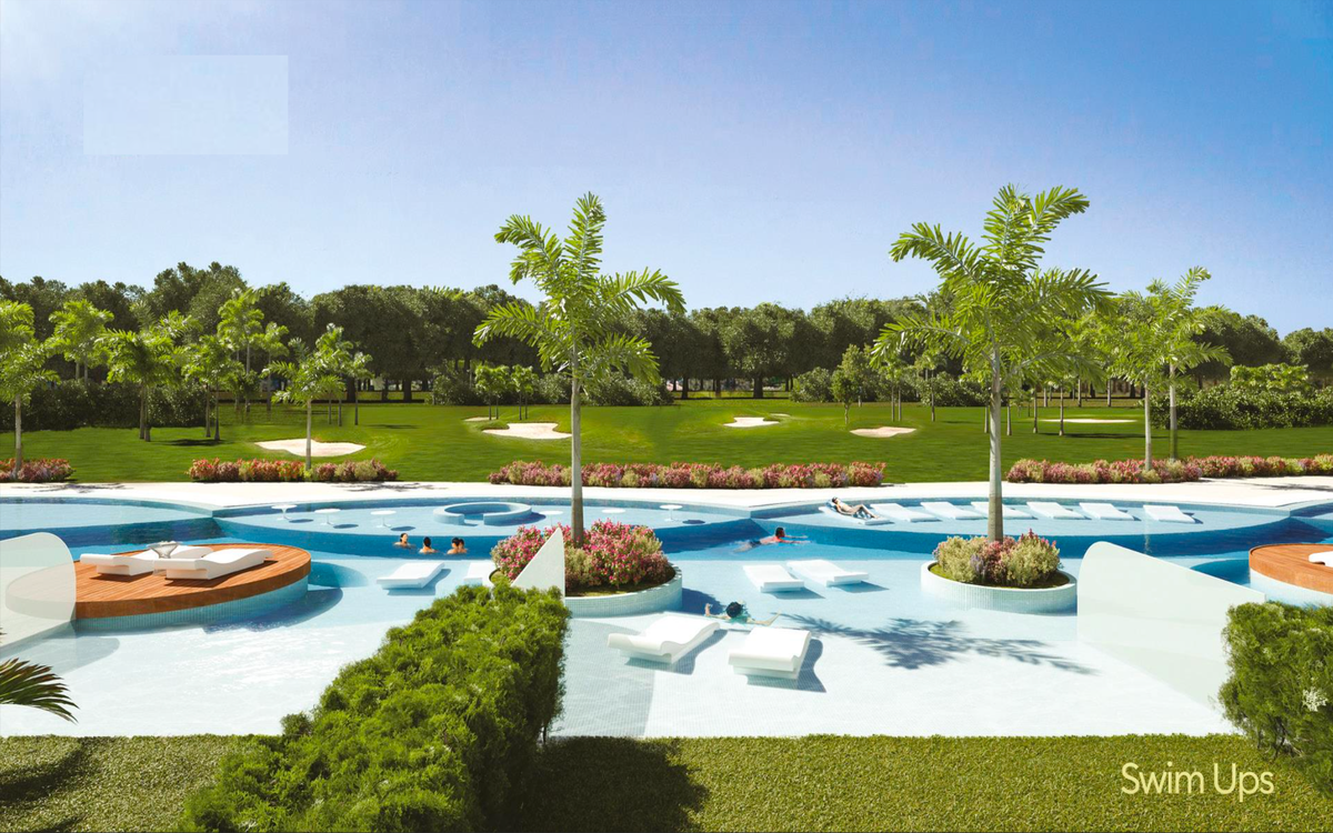 14 de 16: Renders piscina y campo de golf