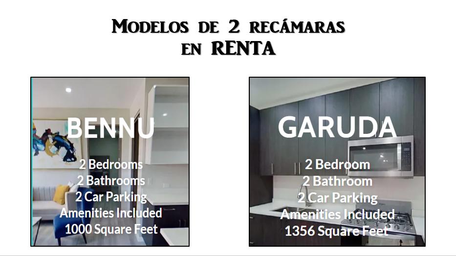2 de 19: Departamentos de 2 recámaras GARUDA $1,950 USD