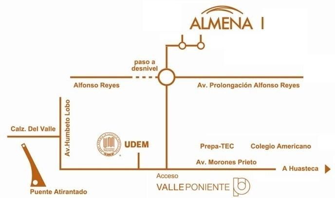 3 de 10: Croquis Almena 1, Santa Catarina , Valle Poniente