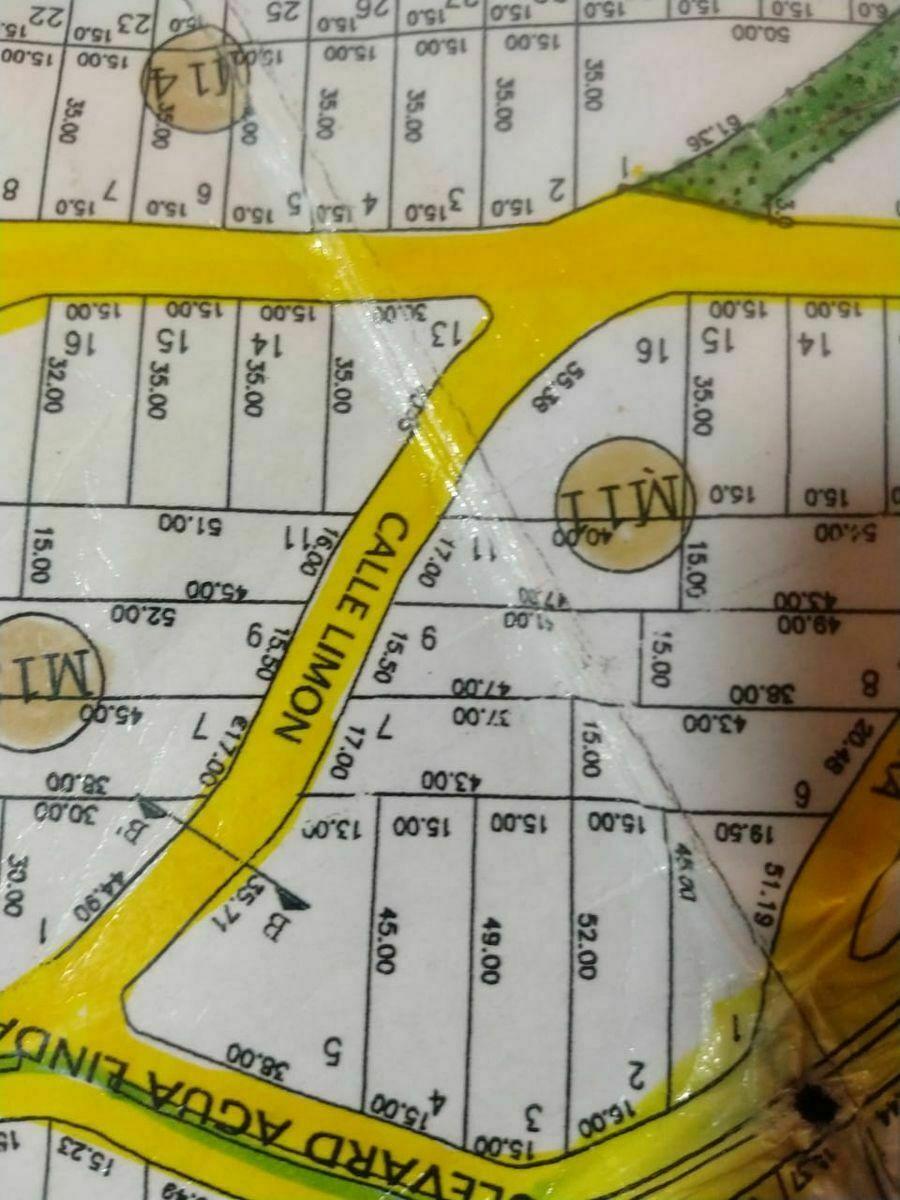 12 de 17: Croquis de ubicación y medidas del terreno