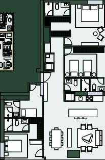 26 de 28: Torre H Ote.  102m2 -Planta tipo 3