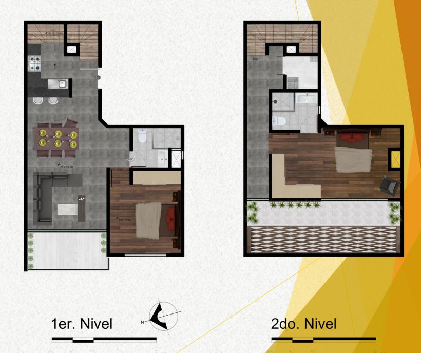 7 de 7: Planta arquitectónica del penthouse