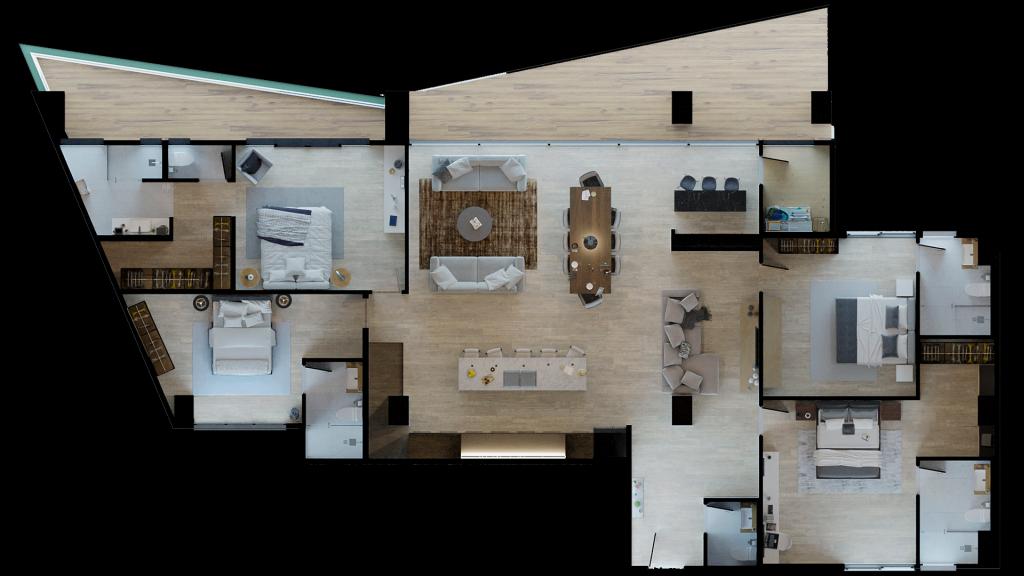 29 de 29: Penthouse Linde. 229.07 m2 + 47.53 m2 balcón.