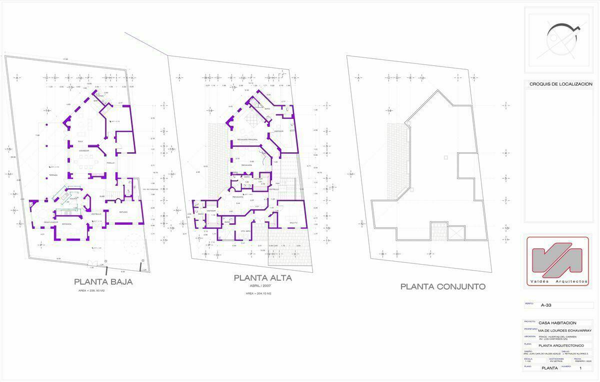 44 de 50: Plano de la Casa