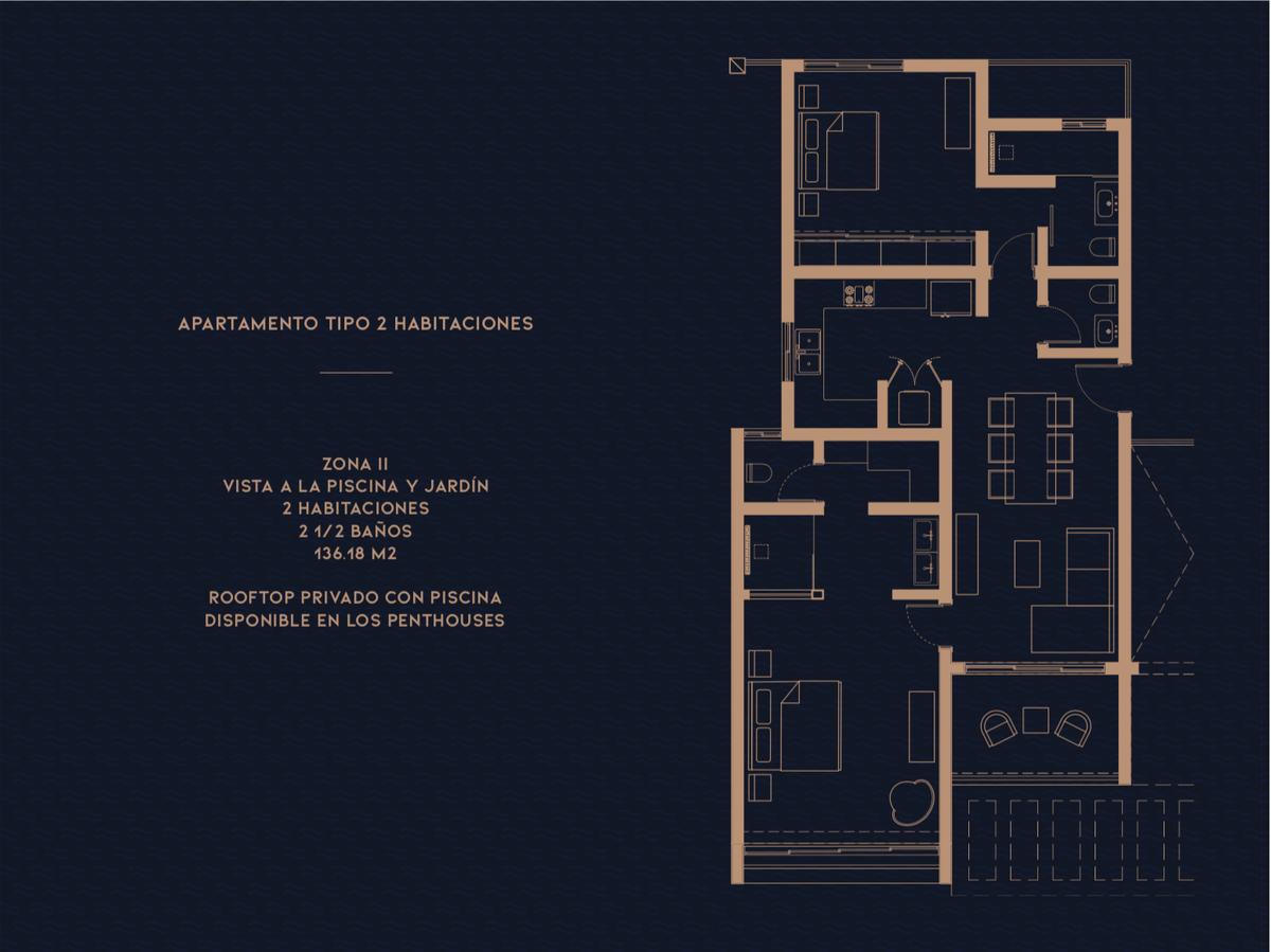 19 de 20: Zona II Apartamento tipo dos Habitaciones