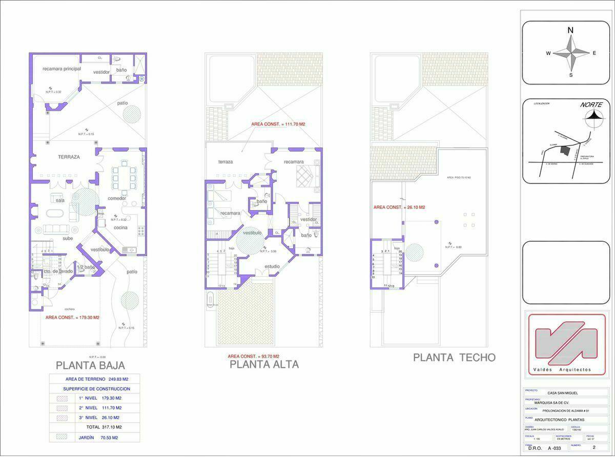 3 de 28: Planos de la Casa en Venta.