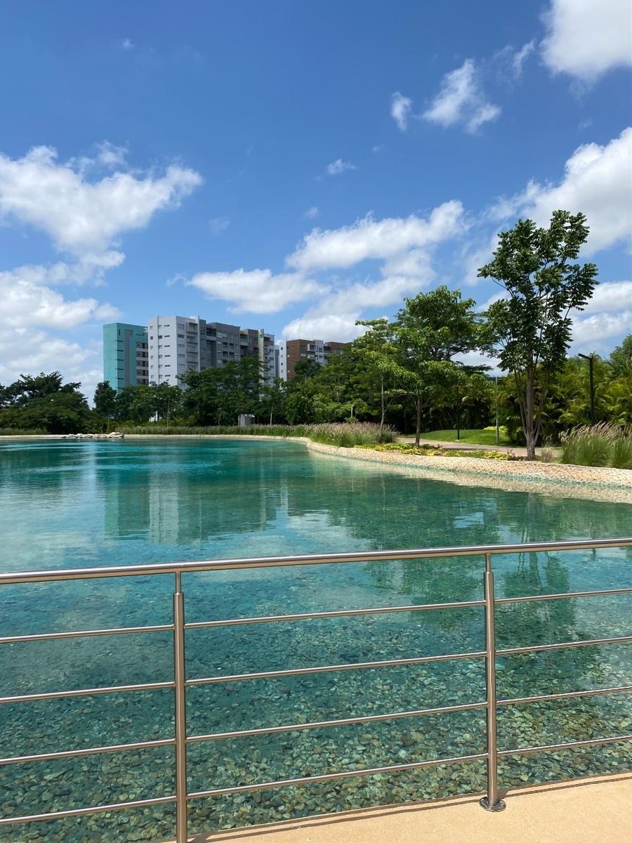 27 de 28: Parque central con lago