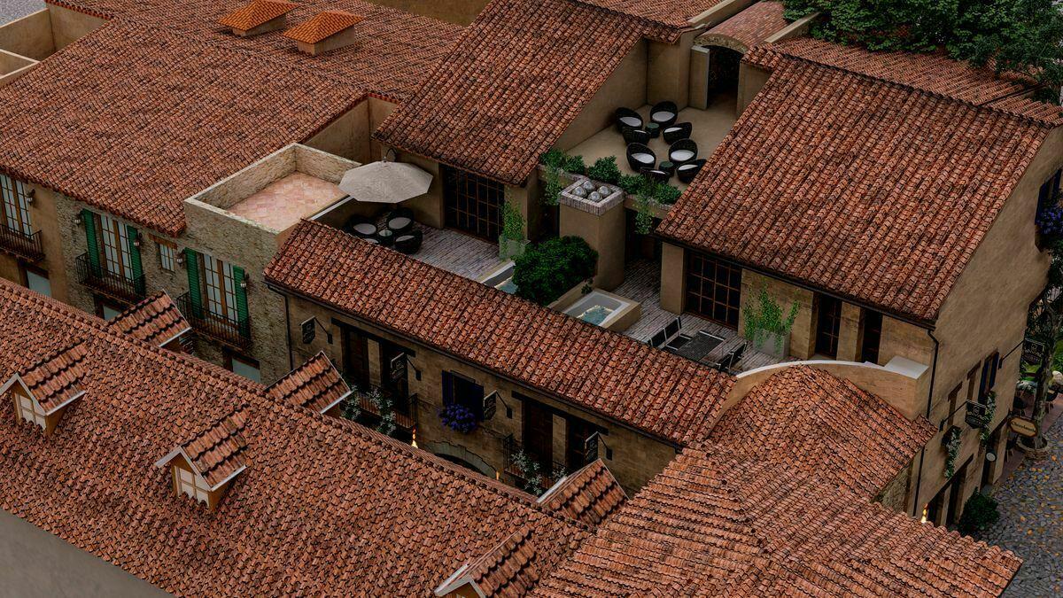 5 de 7: Vista aérea y Roof  Garden del departamento