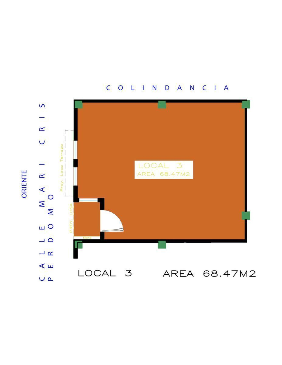 3 de 8: Planta Local Comercial #3 ubicado en Planta Baja