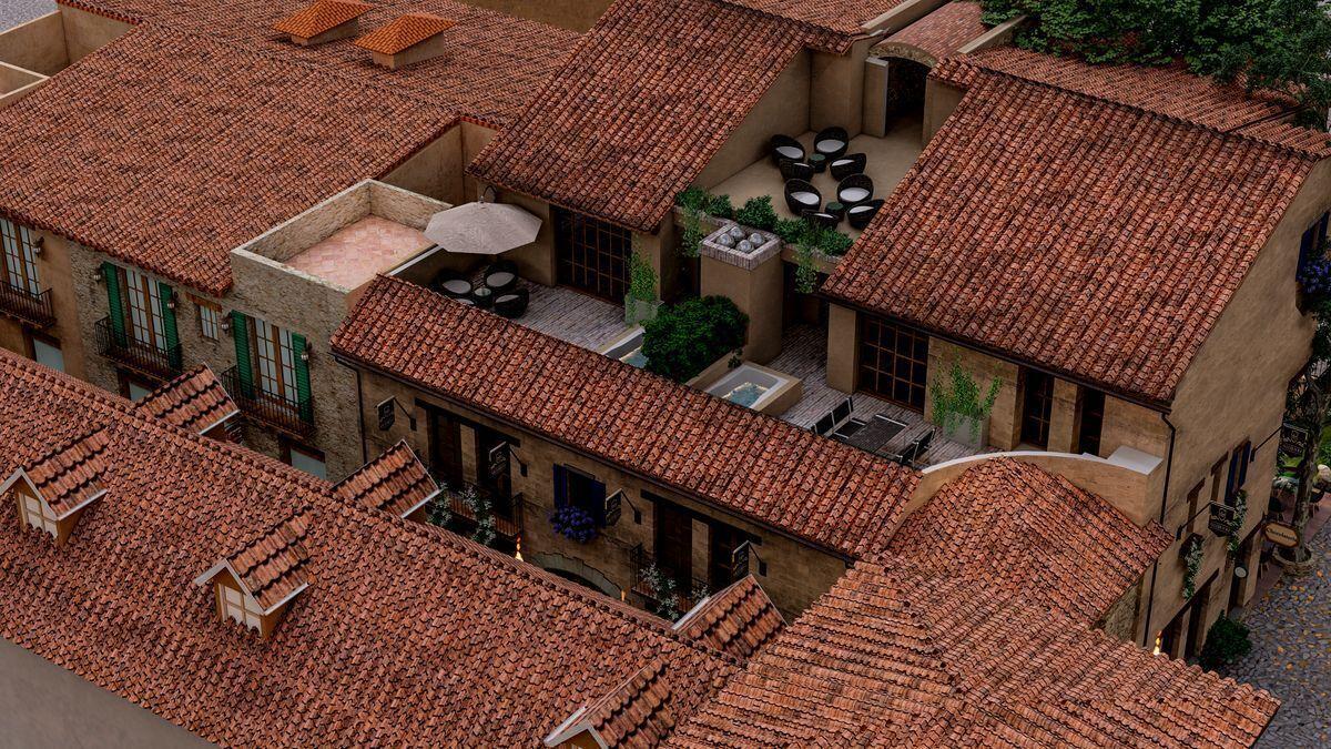 6 de 8: Vista aérea Villa Vico Bello Val´quirico